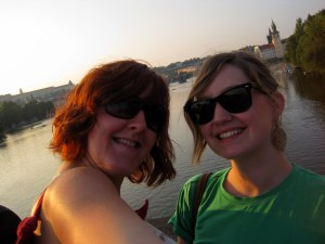 In Prague - me and my bestie!